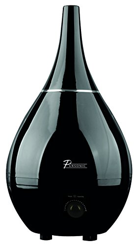 Pursonic Contemporary Cool Mist Ultrasonic Humidifier, Black - 1
