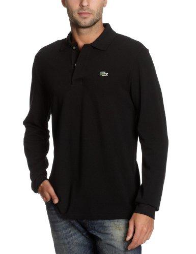 Lacoste 2012 Mens Classic Cotton LS L1312 Polo Shirt - Black - Size 5 - L