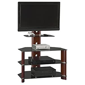 bush furniture segments collection 37 inch bedroom tv stand with mount