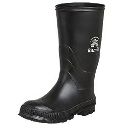 Kamik Stomp Rain Boot (Toddler/Little Kid/Big Kid), Black, 6 M US Big Kid