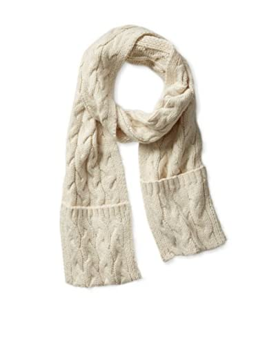 Kate Spade Saturday Women's Cable Knit Pocket Scarf, Cream
