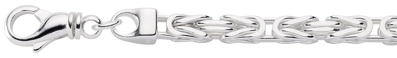 Damen Schmuck Silber Collier / Halskette Königskette aus Sterling Silber 925 ( 50 cm ) ( 5,9 mm )