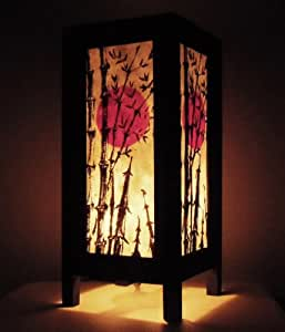 Thai vintage handmade asian oriental japanese bamboo trees for Decoration table orientale