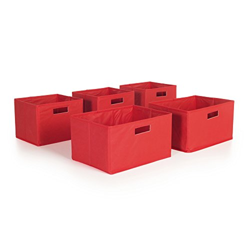 Guidecraft Red Storage Bins - Set of 5 G89001
