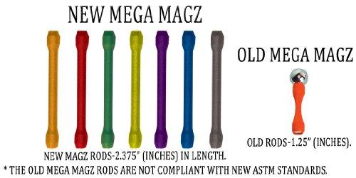 Mega Magz, 130-Piece Magnetic Construction Set - 66 bars and 64 balls