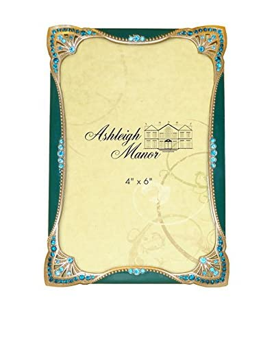 Ashleigh Manor 4 x 6 Jeweled Frame, Turquoise