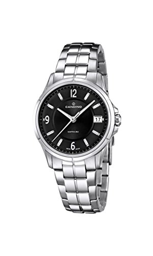 Candino Women's Quartz Watch with Black Dial Analogue Display and Silver Stainless Steel Bracelet C4533/3