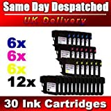10 x Compatible Ink cartridges LC1100 for Brother MFC-250C, MFC-255CW, MFC-290C, MFC-295CN, MFC-297C, MFC-490CN, MFC-5490CN, MFC-5890CN, MFC-790CW, MFC-795CW, MFC-6490CW, MFC-6890CDW, MFC-990CW, DCP-145C, DCP-163C, DCP-165C, DCP-167C, DCP-185C, DCP-195C,