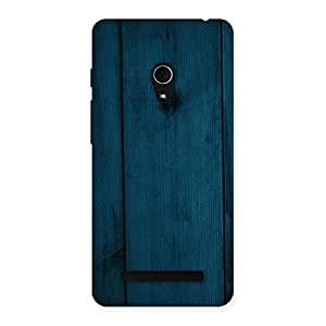 Royal Blue Wood Back Case Cover for Zenfone 5