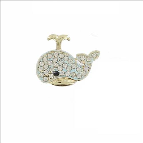Whale Design W Stone Pin #038239
