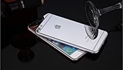 Exoic81 Electroplated Mirror Front + Back Tempered Glass Screen Protector For Apple iPhone 6 / 6S / 6G - SILVER