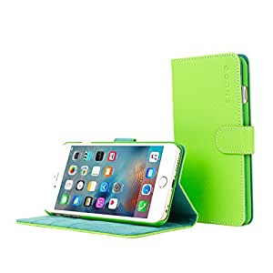iPhone 6 Case, SnuggTM - Green Leather Wallet Case Cover and Stand with Card Slots & Soft Premium Nubuck Fibre Interior - Protective Apple iPhone 6 Flip Case - Includes Lifetime Guarantee