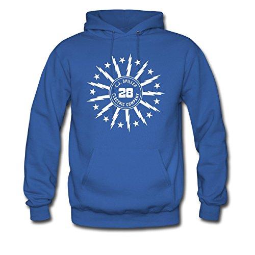 Spreadshirt Men'S The C.J. Spiller Electric... Hoodie, Royal Blue, L