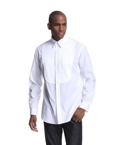 adidas Y-3 by Yohji Yamamoto Men's Long Sleeve Mix Jersey-Woven Shirt