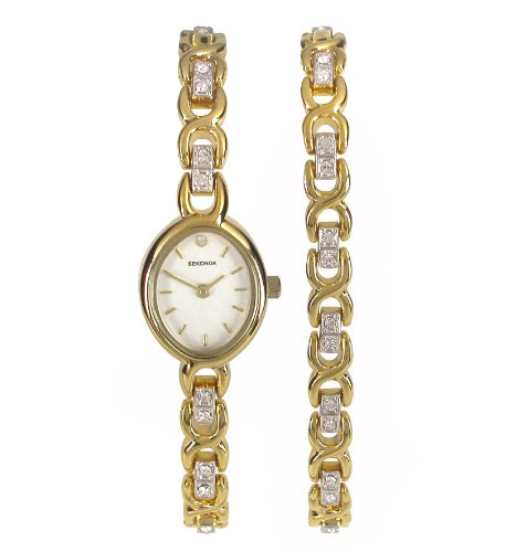 Sekonda Women's Quartz Watch with Beige Dial Analogue Display and Gold Bracelet 4725G.42