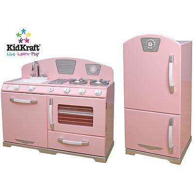 Kidkraft Retro Play Kitchen On Buy Kidkraft Pink Retro 2 Piece Kitchen Set