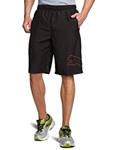 PUMA Herren Trainingsshorts Multi Cat, Black-High Risk Red, S, 508807 19