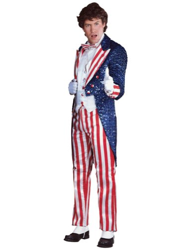 Uncle Sam Sequin Lg Deluxe Halloween Costume - Most Adults