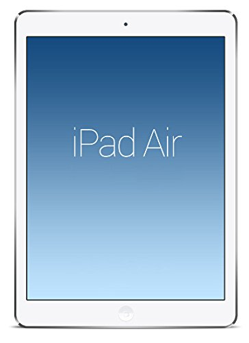 Apple iPad Air Tablet (Silver) - 16 GB Hard Drive Storage, Mac OS X. WIFI only (Certified Refurbished)