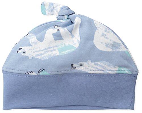 Caterpillar & Friends Baby-Boys Newborn Polar Bear Knotted Cap, Blue, One Size/9 Months front-30102