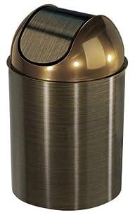 Umbra Mezzo Trash Can, Bronze (with lid)