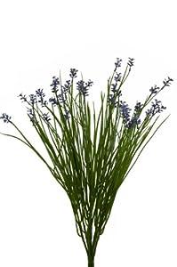 Artificial Wild Flower Bush - 48cm, Lavender