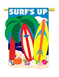 "Surf's up Flag Indoor/outdoor 28"" X 44"""