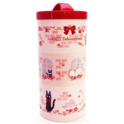 [Majo Kiki's delivery service: bottle type three-lunch box (rose) LRT3