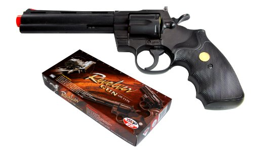 TSD Sports UA938B 6 inch Spring Powered Airsoft Revolver (Black)