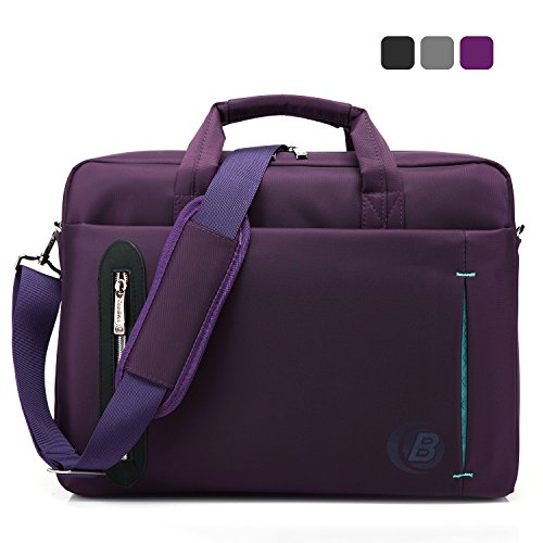 12. CoolBell®15.6 inch Laptop Bag With Strap Messenger Shoulder Handle bag Briefcase Nylon Cloth Waterproof Multi-compartment For iPad Pro/Macbook/Asus/Lenovo for Men/ Women/Business(Purple)