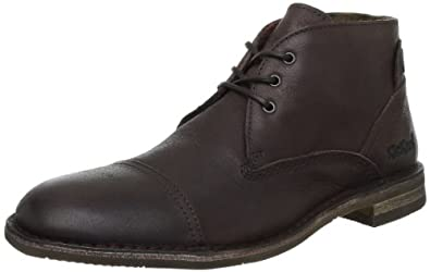 Kickers Edgo, Chaussures à lacets homme - Marron foncé, 40 EU
