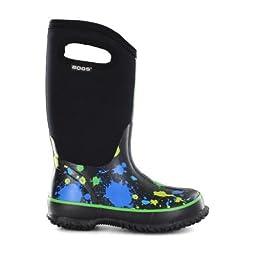 Bogs Classic High Paint Splat Waterproof Insulated Rain Boot (Toddler/Little Kid/Big Kid), Blue,7 M US Toddler