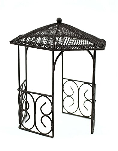 Touch of Nature Miniature Garden Gazebo, 5-Inch, Black