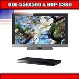 "Sony KDL-55EX500 - 55"" BRAVIA LCD TV + Sony BDP-S380 - 3D Blu-ray disc play ...."