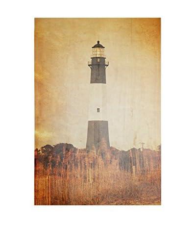 Panel Madera Deco Vintage Lighthouse