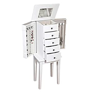 Mele & Co. Vanna Jewelry Armoire in White 13 1/2