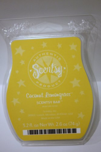 Coconut Lemongrass Scentsy Bar Wickless Candle Tart Warmer Wax 3.2 Fl Oz, 8 Squares