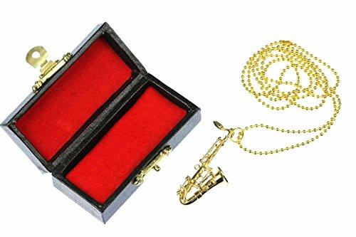 Saxofon-Kette-Saxofonkette-Halskette-Miniblings-Saxophon-Sax-vergoldet-80cm-Box