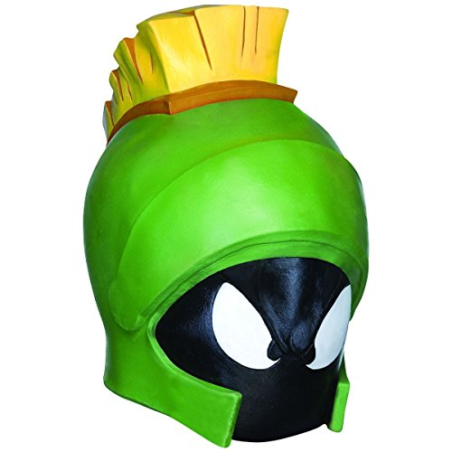 [Marvin the Martian Costume Mask Looney Tunes Adult Men Classic Cartoon Halloween] (Looney Tunes Martian Costume)