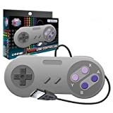 New SNES Tomee USB Controller Eight-Way Directional Pad & Six Digital Buttons Works For PC & Mac