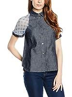 Trussardi Jeans Camisa Mujer (Denim / Rosa)