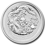 Australian 2012 Lunar Dragon -- 1/2 oz (ounce) of Fine Silver