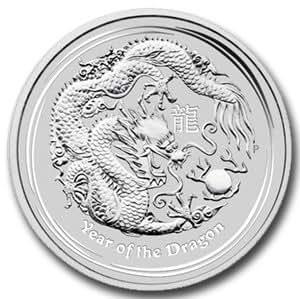 Australian 2012 Lunar Dragon -- 1/2 oz (ounce) of Fine Silver