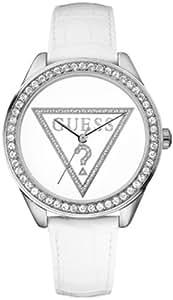 GUESS - W65006L1 - Montre Femme - Quartz Analogique - Bracelet Cuir Blanc