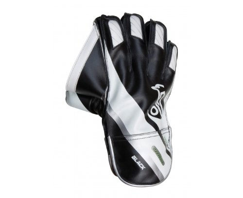 Kookaburra Black Cricket Wicket Keeping Glove - Black/White/Silver, Men's One Size