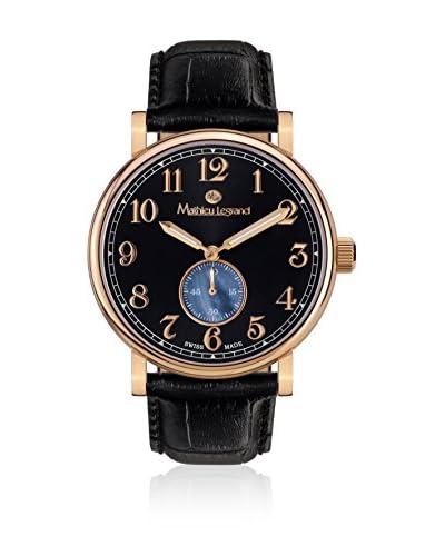 Mathieu Legrand Reloj de cuarzo MLG-1000B Negro 42 mm