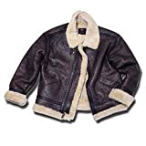 GENUINE B-3 Jacket by Alpha - Brown B3 Sherpa Bomber Jacket - PRICE INCLUDES FREE SHIPPING!