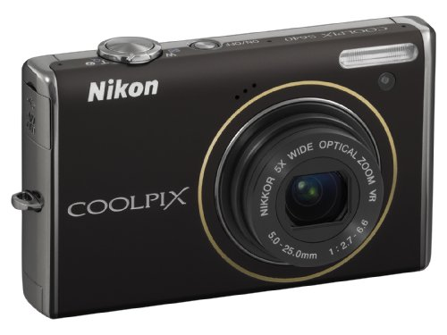Nikon Coolpix S640 Digital Camera - Black (12.0MP, 5x Optical Zoom) 2.7 inch LCD