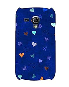 Pick Pattern Back Cover for Samsung I8200 Galaxy S III mini (MATTE)