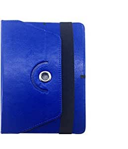 Garmor 360 Degree Rotating Flip cover For Micromax Funbook Mini P410i - 7 inch Tablet (Blue)